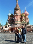 Jay Harris and family in red square Moscow.