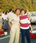 Teacher Marilyn O'Neil and Kim Price